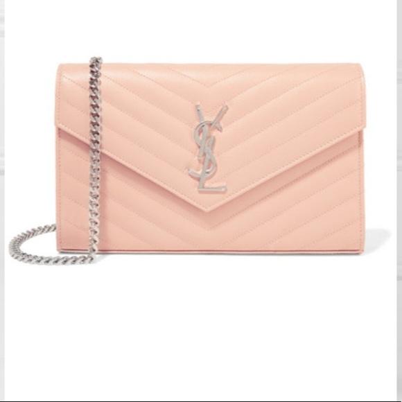 fb101b4dec YSL Monogramme mini textured-leather shoulder bag
